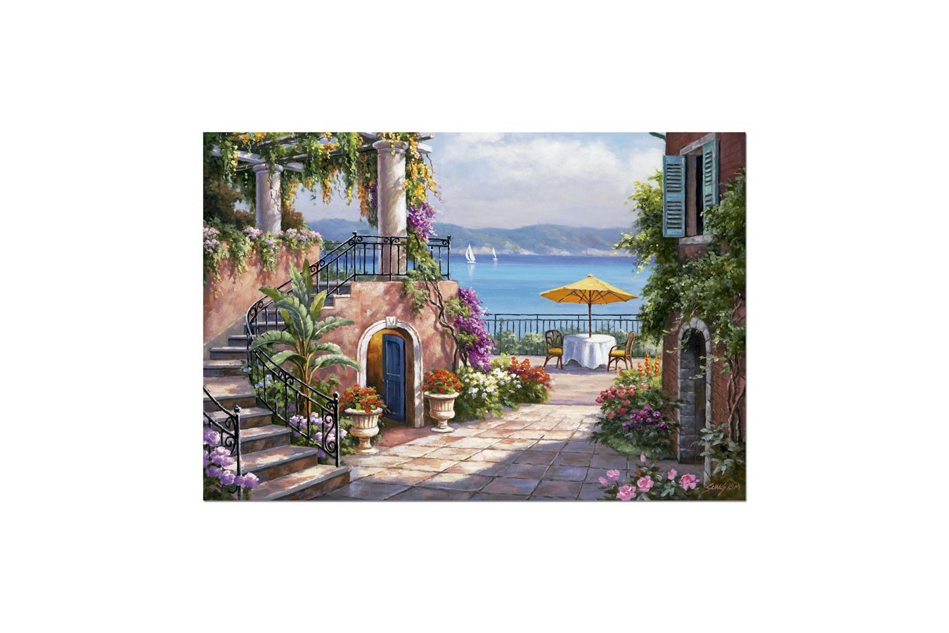 Puzzle Educa - Sung Kim: Tuscan Terrace, 3000 piese (14823)