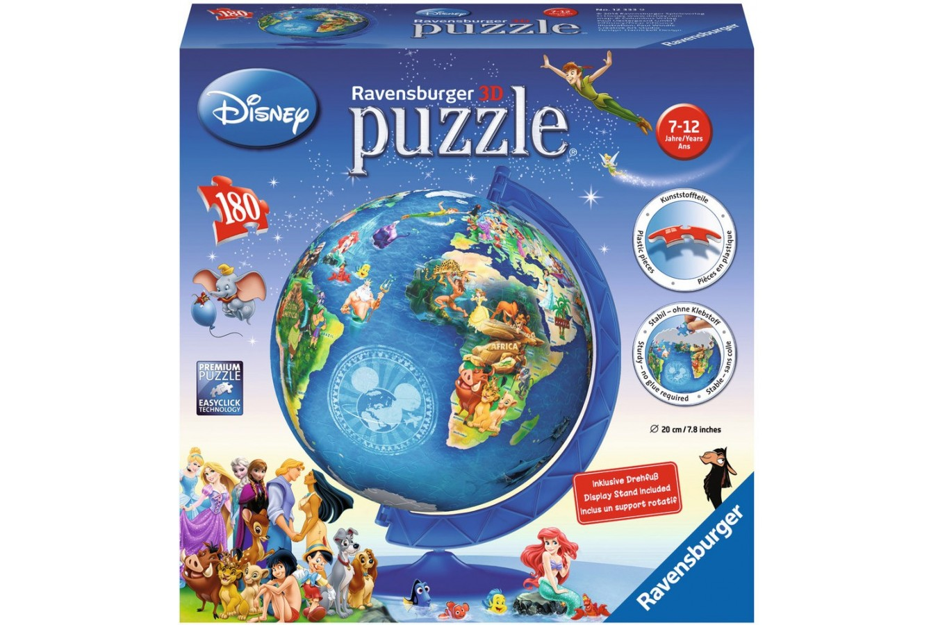 Puzzle Ravensburger - Globul Disney, 180 piese (12333)