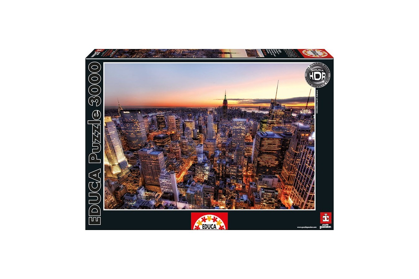 Puzzle Educa - Sun Setting on Manhattan, New York, 3000 piese (14824)