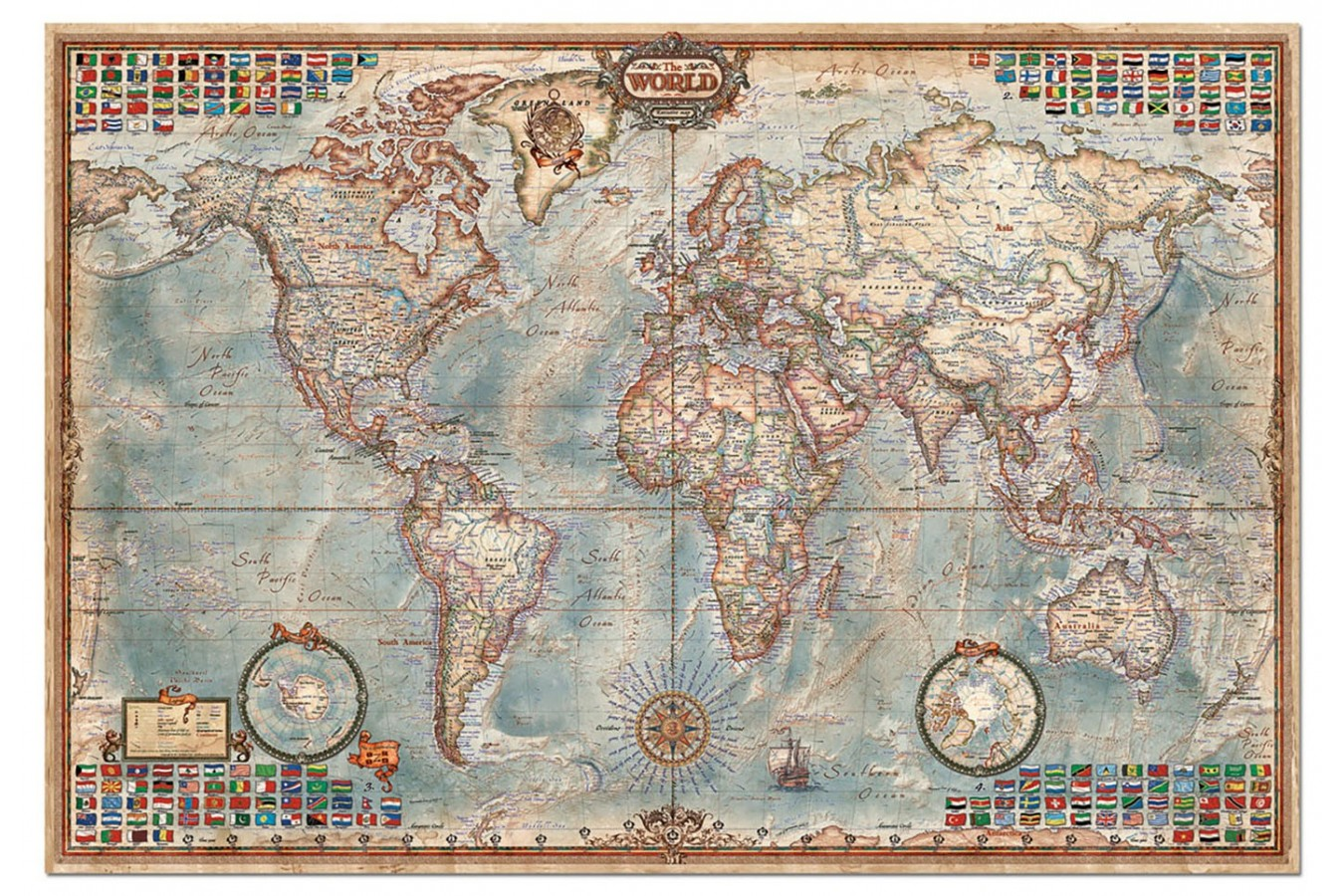 Puzzle Educa - World Map, 4000 piese (14827)
