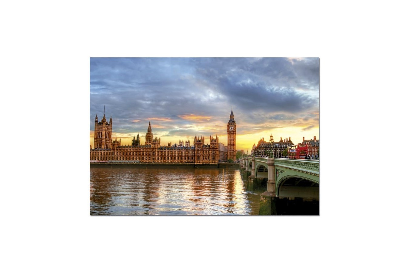 Puzzle Educa - Sunset on the River Thames, 1000 piese (14833)