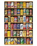 Puzzle mini Educa - Drinking Cans, 1000 piese, include lipici puzzle (14835)