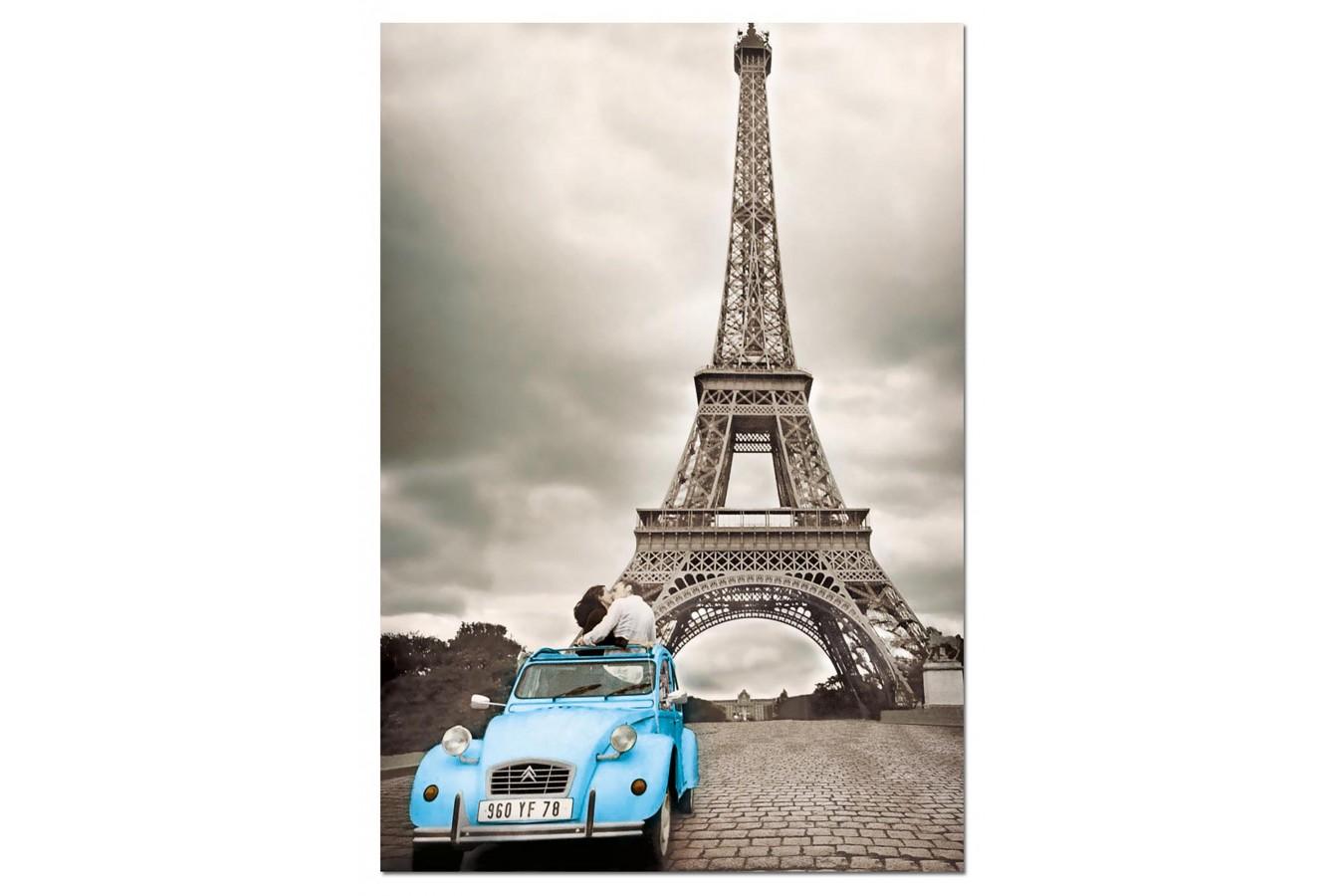 Puzzle Educa - Kissing under the Eiffel Tower, Paris, 500 piese, include lipici puzzle (14845)