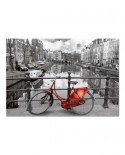 Puzzle Educa - The Canal, Amsterdam, Holland, 1000 piese, include lipici puzzle (14846)