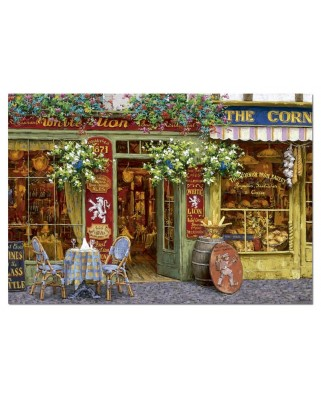 Puzzle Educa - Victor Shvaiko: The White Lion Restaurant, 1000 piese (14859)