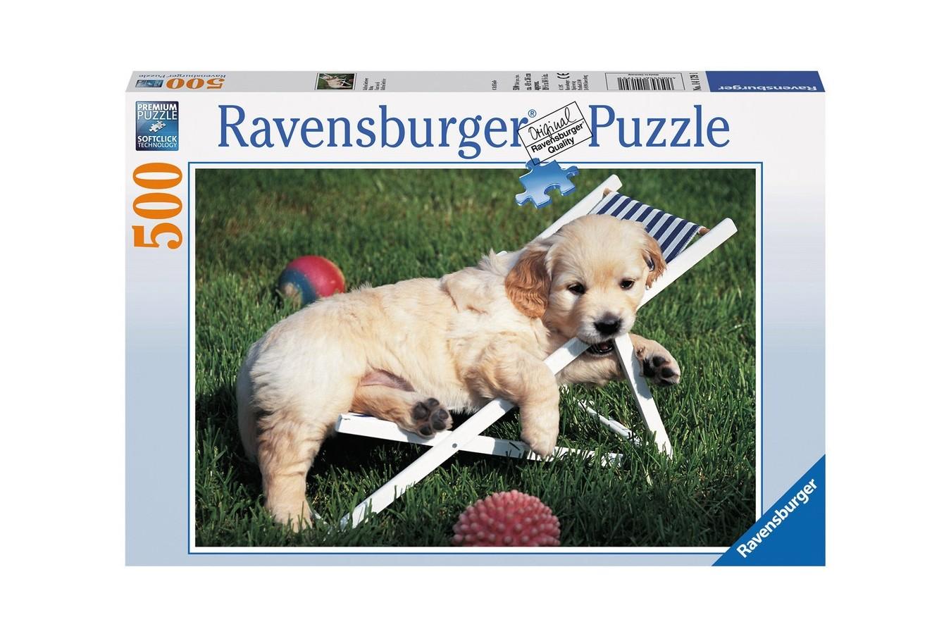 Puzzle Ravensburger - Golden Retriever, 500 piese (14179)