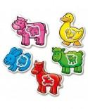 Puzzle Educa - Farm Animals, 2/2/3/3/4 piese (14865)