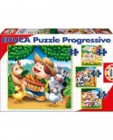 Puzzle Educa - Farm Animals, 6/9/12/16 piese (14867)