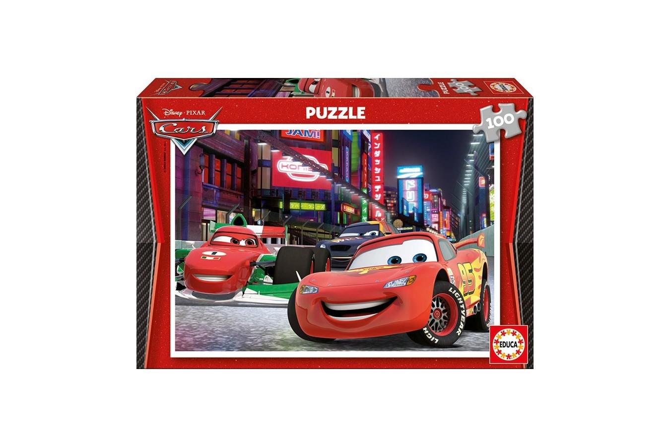 Puzzle Educa - Disney Cars 2: Flash McQueen in Tokyo, 100 piese (14940)