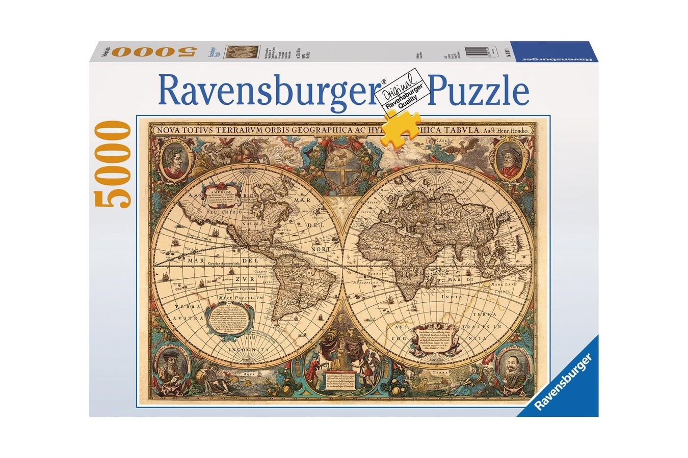 Puzzle Ravensburger - Harta Antica A Lumii , 5000 piese (17411)