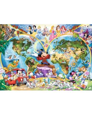 Puzzle Ravensburger - Harta Lumii Disney, 1.000 piese (15785)