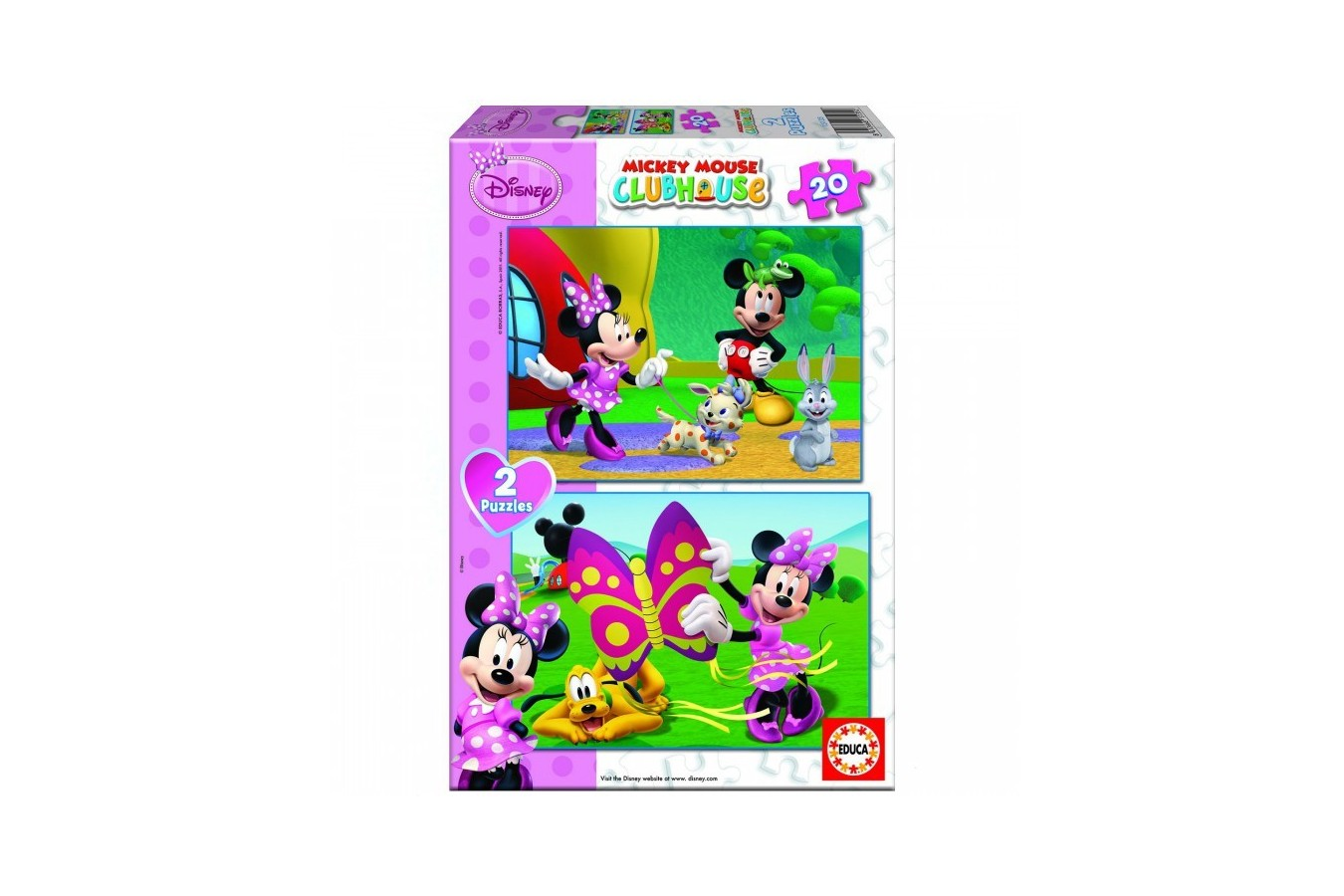 Puzzle Educa - Mickey and his Friends: Minnie, 2x20 piese (15135)