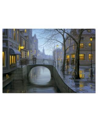 Puzzle Educa - Eugene Lushpin: Rainy Evening, 500 piese (15175)