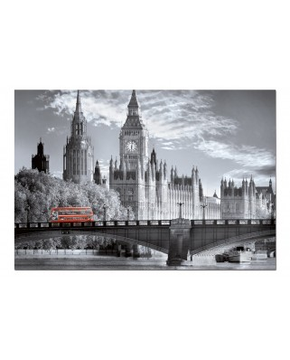 Puzzle Educa - Black & White Collection: London Bus, 1000 piese, include lipici puzzle (15180)