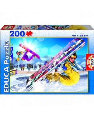 Puzzle Educa - Snowboard, 200 piese (15268)