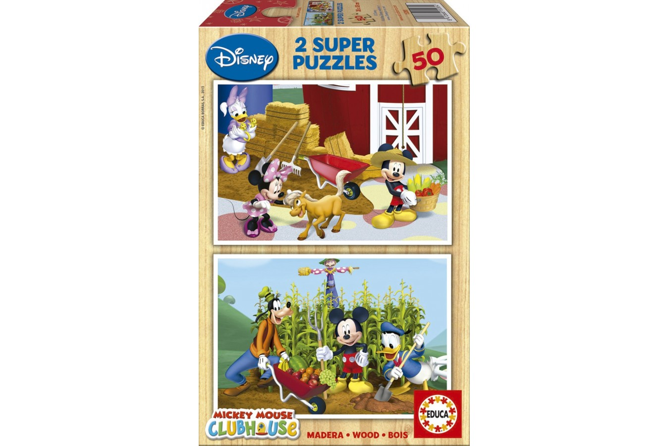 Puzzle din lemn Educa - Mickey Mouse Clubhouse, 2x50 piese (15285)