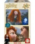 Puzzle din lemn Educa - Brave, 2x50 piese (15301)