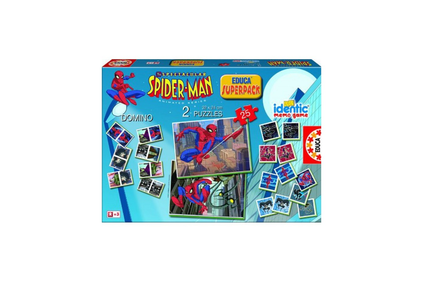 Puzzle Educa - Superpack Spiderman, 2x25 piese (15327)