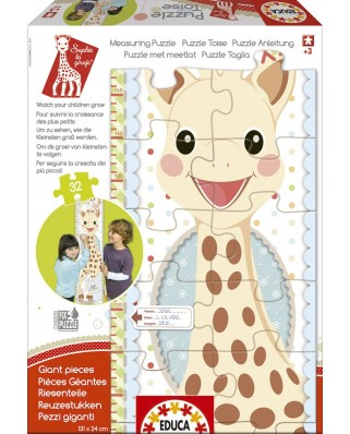 Puzzle Gigant Educa - Height Chart: Sophie the Giraffe, 32 piese (15505)