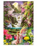 Puzzle Educa - Fairies' Waterfall, 500 piese, include lipici puzzle (15515)