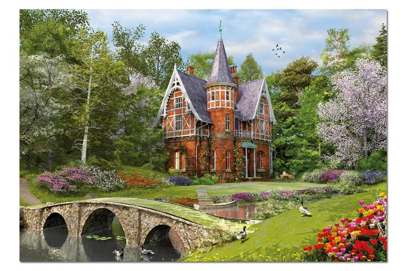 Puzzle Educa - Dominic Davison: House near the Bridge, 1000 piese, include lipici puzzle (15519)