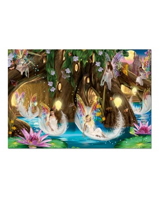 Puzzle Educa - Walking between the Water Lilies, 1000 piese, include lipici puzzle (15520)