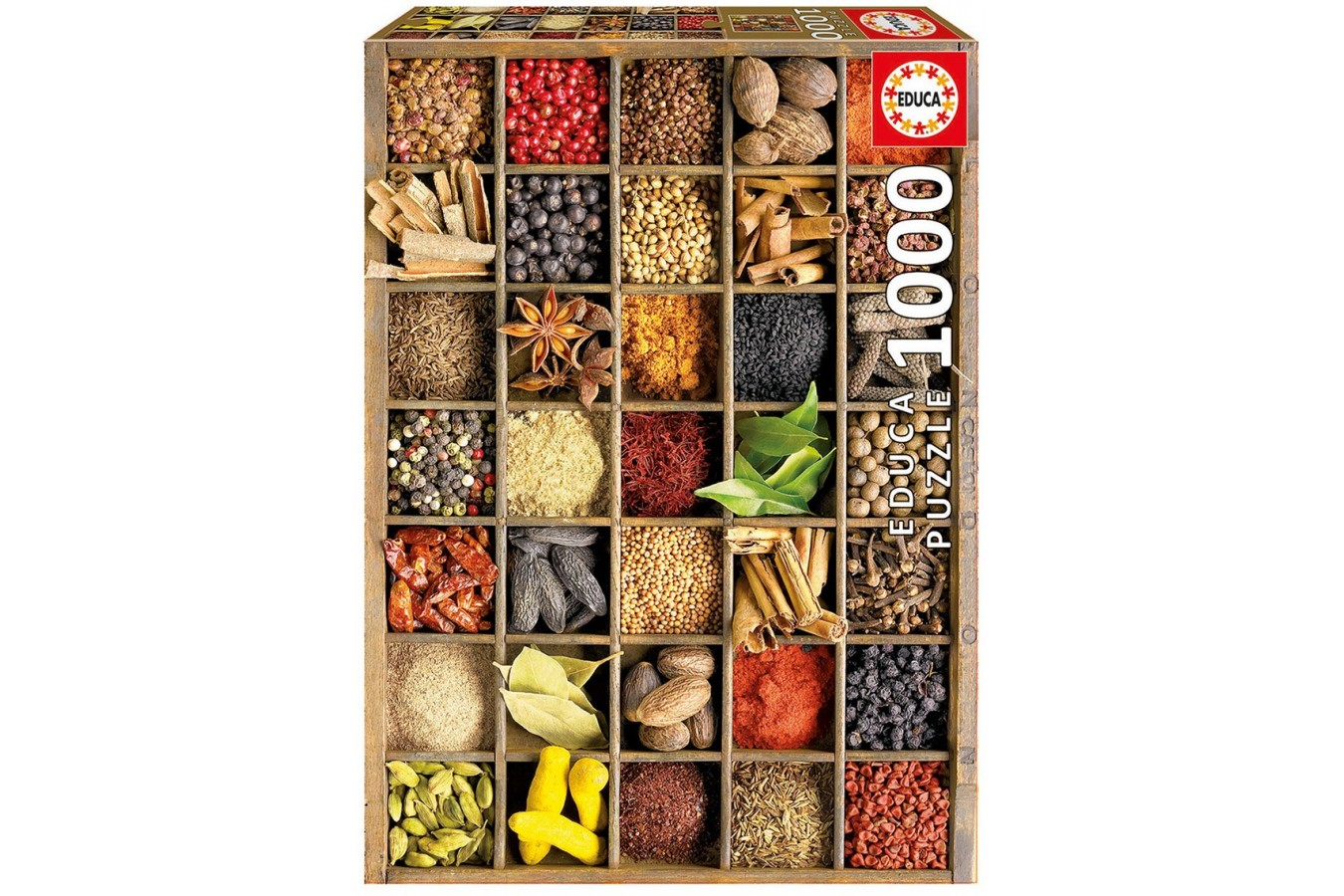Puzzle Educa - Howard Shooter: Spices, 1000 piese, include lipici puzzle (15524)