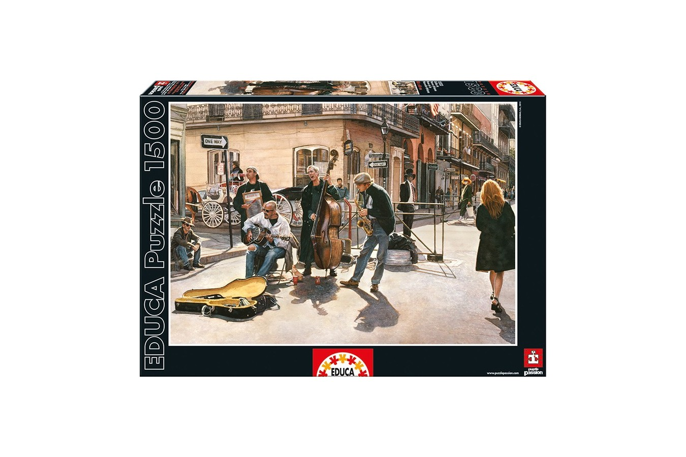 Puzzle Educa - New-Orleans Streets, 1500 piese, include lipici puzzle (15533)