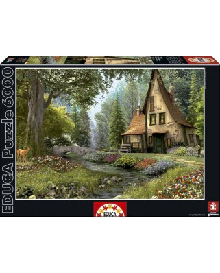 Puzzle Educa - Dominic Davison: Fairytale House, 6000 piese (15543)
