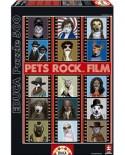Puzzle Educa - Pets Rock Film, 500 piese (15553)