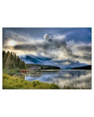 Puzzle Educa - Maligne Lake, Canada, 1000 piese (15558)
