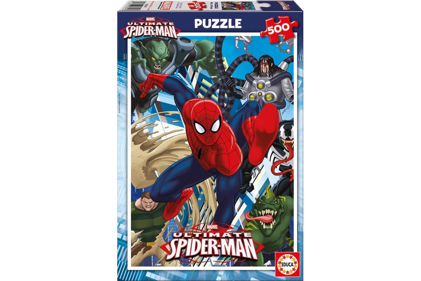 Puzzle Educa - Ultimate Spider-Man, 500 piese, include lipici puzzle (15559)