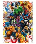 Puzzle Educa - Marvel Heroes, 500 piese, include lipici puzzle (15560)