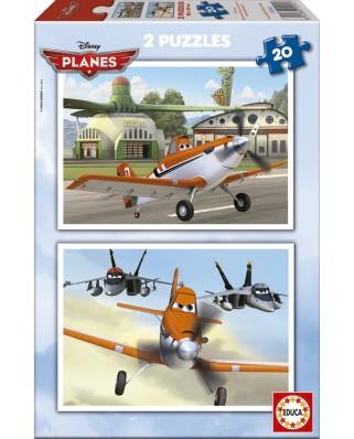 Puzzle Educa - Planes, 2x20 piese (15565)