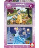 Puzzle Educa - Disney Princesses: Snow-White and Cinderella, 2x20 piese (15593)
