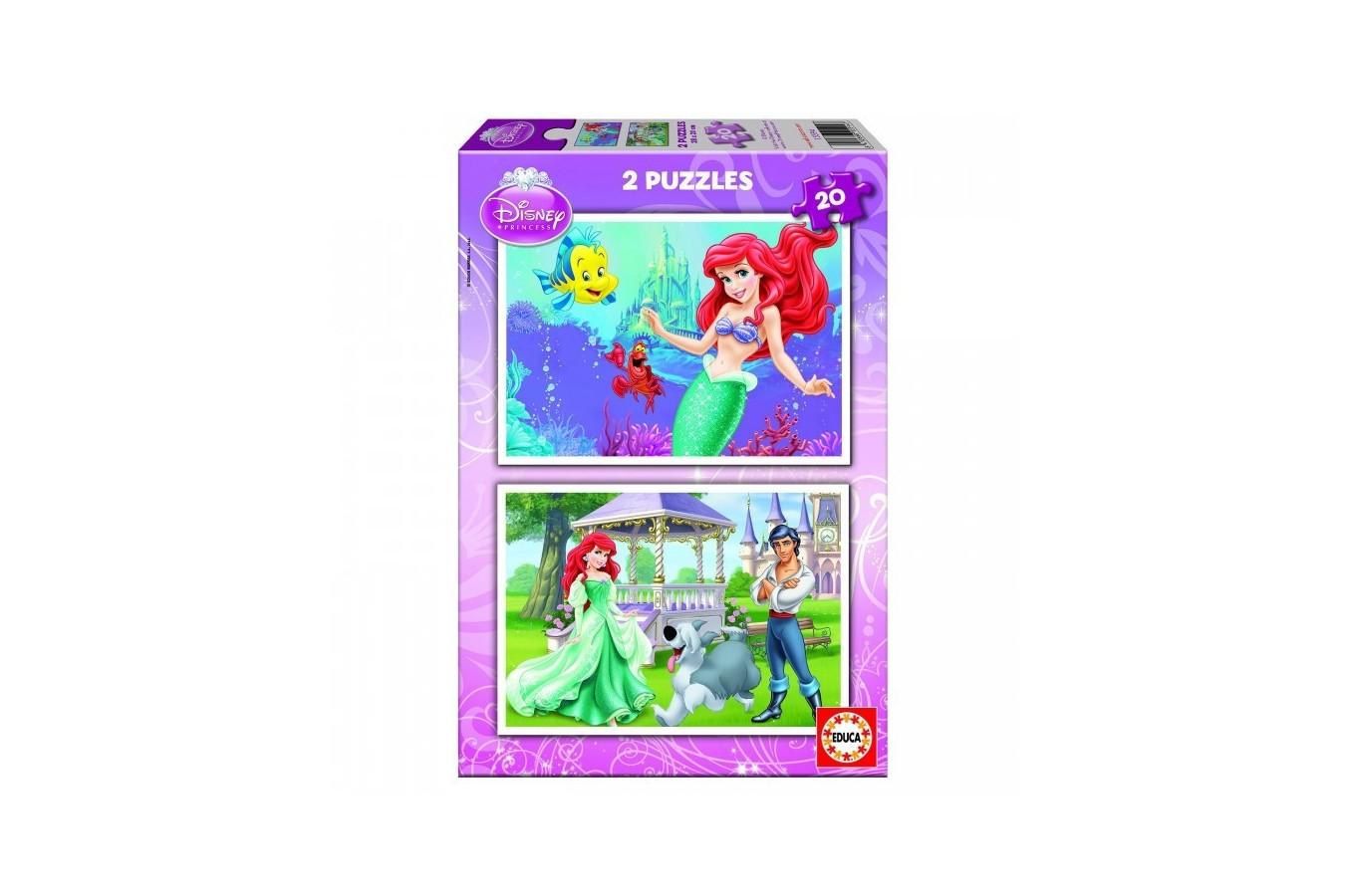 Puzzle Educa - Disney Princess: Ariel the Little Mermaid, 2x20 piese (15594)