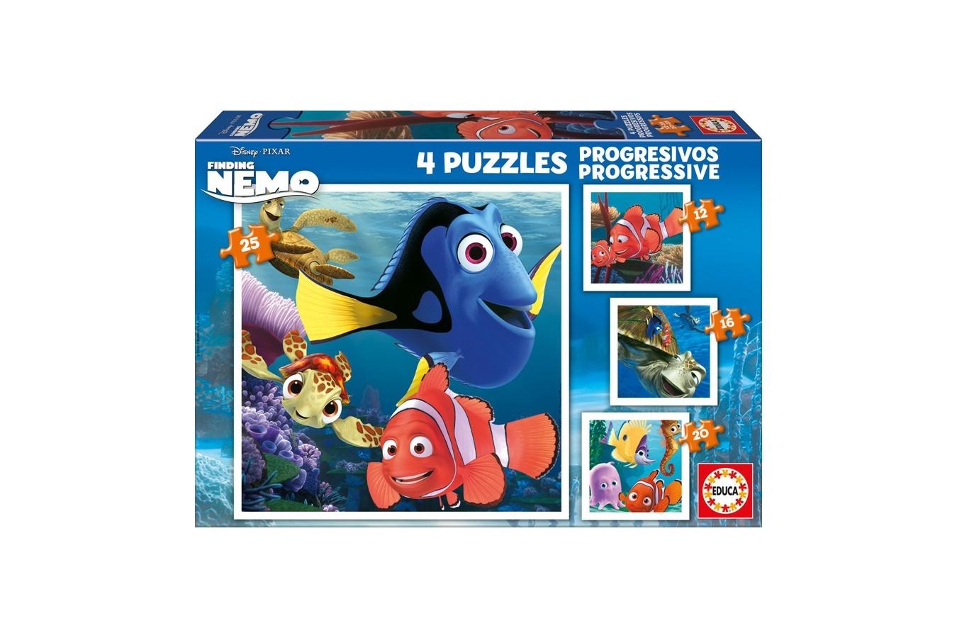 Puzzle Educa - Finding Nemo, 12/16/20/25 piese (15602)