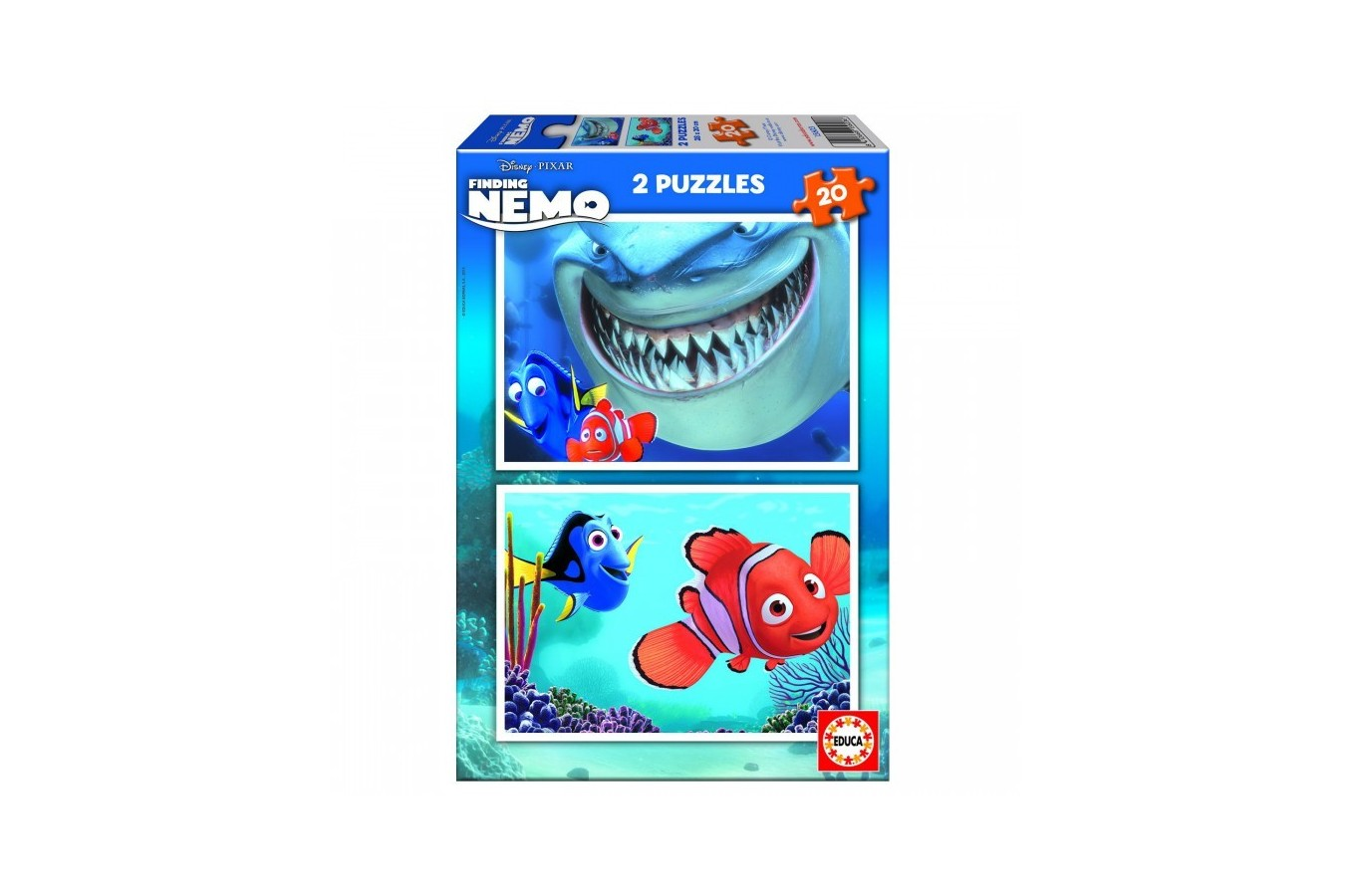 Puzzle Educa - Finding Nemo, 2x20 piese (15603)