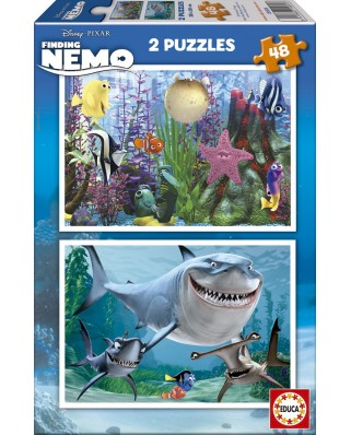 Puzzle Educa - Finding Nemo, 2x48 piese (15604)