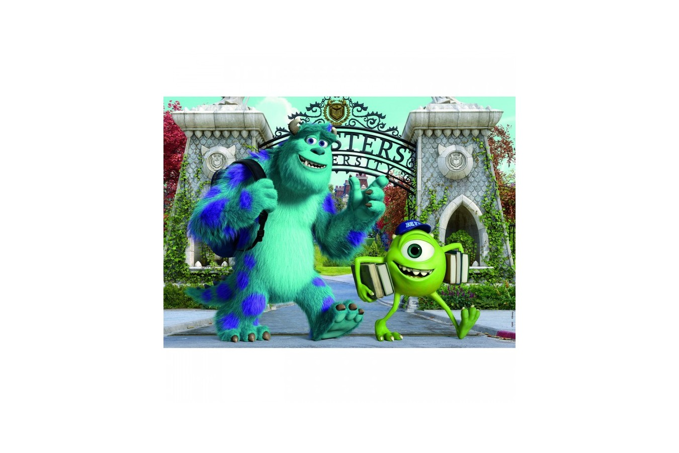 Puzzle din lemn Educa - Monsters Inc: Monsters University, 2x50 piese (15608)