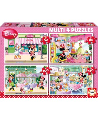 Puzzle Educa - Minnie and her Friends, 50/80/100/150 piese (15614)