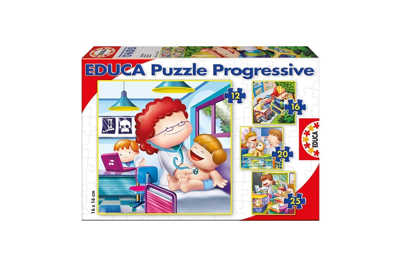 Puzzle Educa - Jobs, 12/16/20/25 piese (15618)