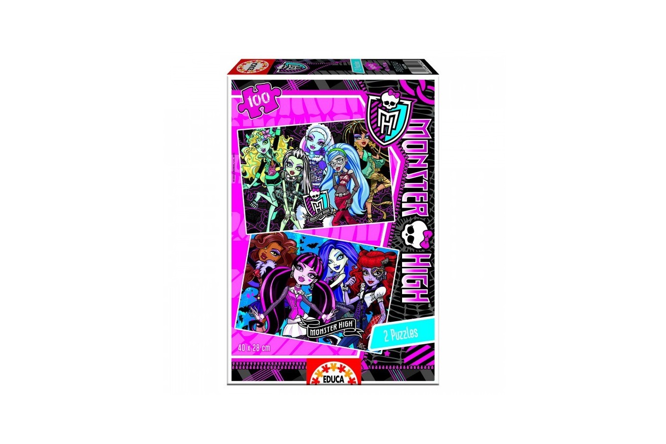 Puzzle Educa - Monster High, 2x100 piese (15629)
