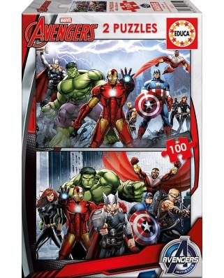 Puzzle Educa - Avengers, 2x100 piese (15771)
