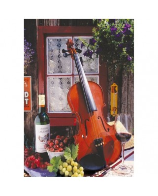 Puzzle Educa - Alberto Rossini - Violin and Still Life with Grapes, 500 piese (15790)