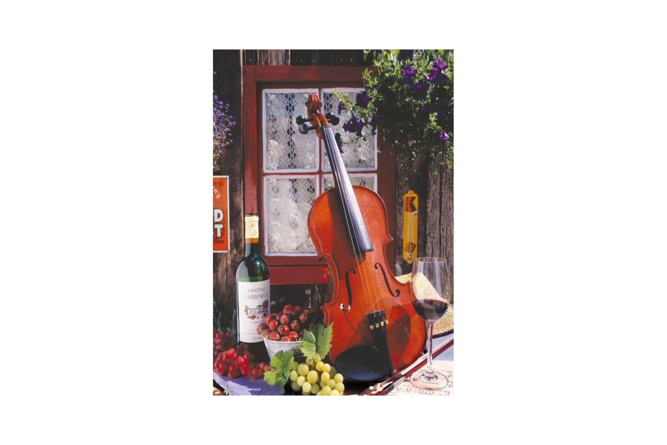Puzzle Educa - Alberto Rossini - Violin and Still Life with Grapes, 500 piese (15790)