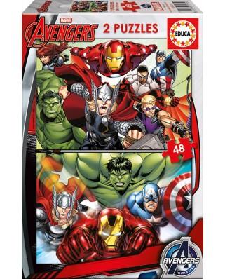 Puzzle Educa - Avengers, 2x48 piese (15932)