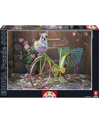 Puzzle Educa - French Bulldog, 500 piese (15964)