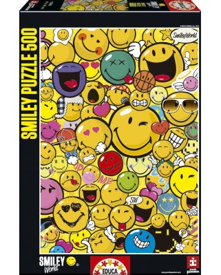 Puzzle Educa - Smiley World, 500 piese (15966)