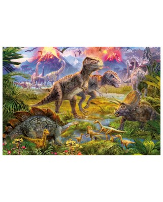 Puzzle Educa - Meeting of dinosaurs, 500 piese, include lipici puzzle (15969)